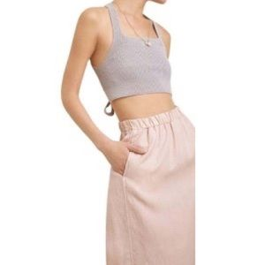 Wilfred for Aritzia Roanne Midi Skirt in Beige